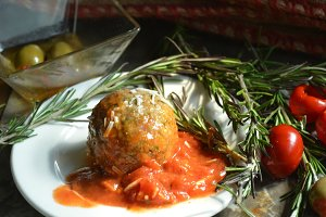 Meatball and Tomato Sauce Meal