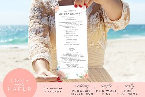 Wedding Program Template P1019