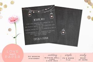 Wishing Well Wedding Card W1018