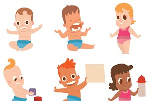 Baby kids vector illustration