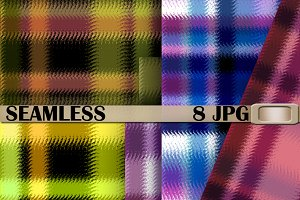 8 Plaid seamless pattern .