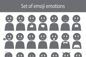 Set of emoji emotion