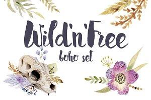Wild'n'free boho theme set