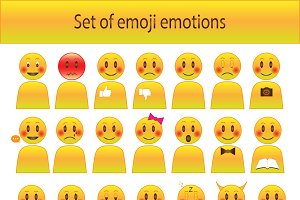 Set of Emoji emotion.