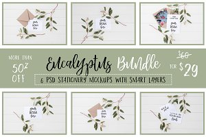 Eucalyptus Stationery Bundle 50% OFF