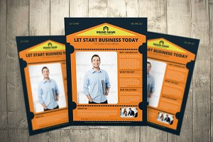 Brand Color Flyers Set New Design