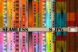 Abstract seamless colorful pattern .