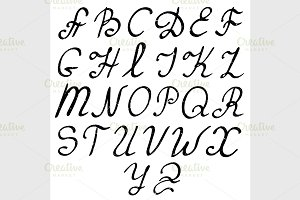 Vector hand drawn alphabet