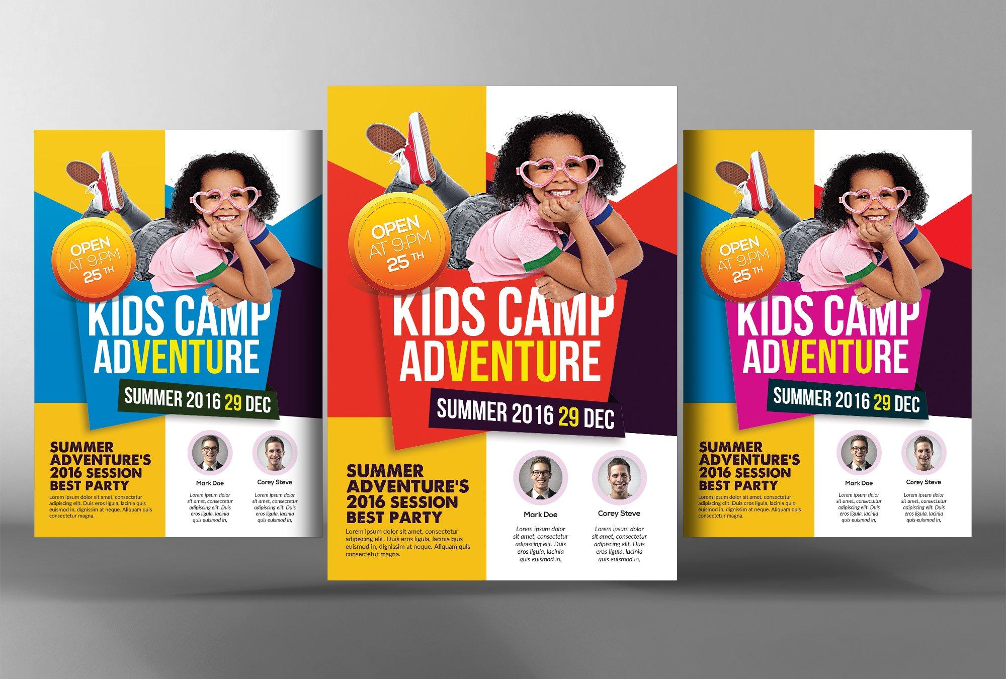 summer camp brochure template - kids summer camp flyer template flyer templates