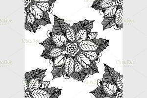 flower Christmas texture seamless