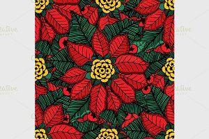 flower Christmas texture seamless