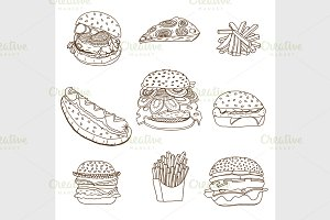 sketchy fast food illustrations.
