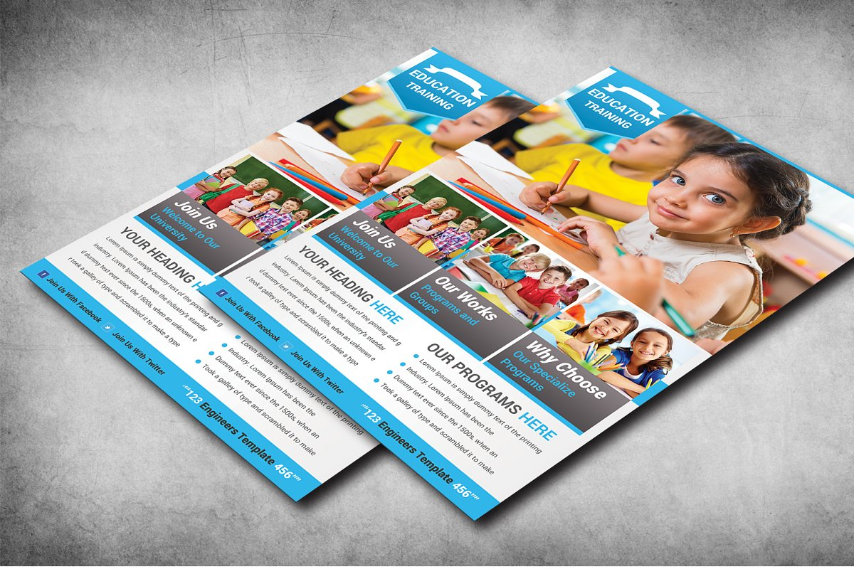School Education Flyers in Flyer Templates - product preview 1