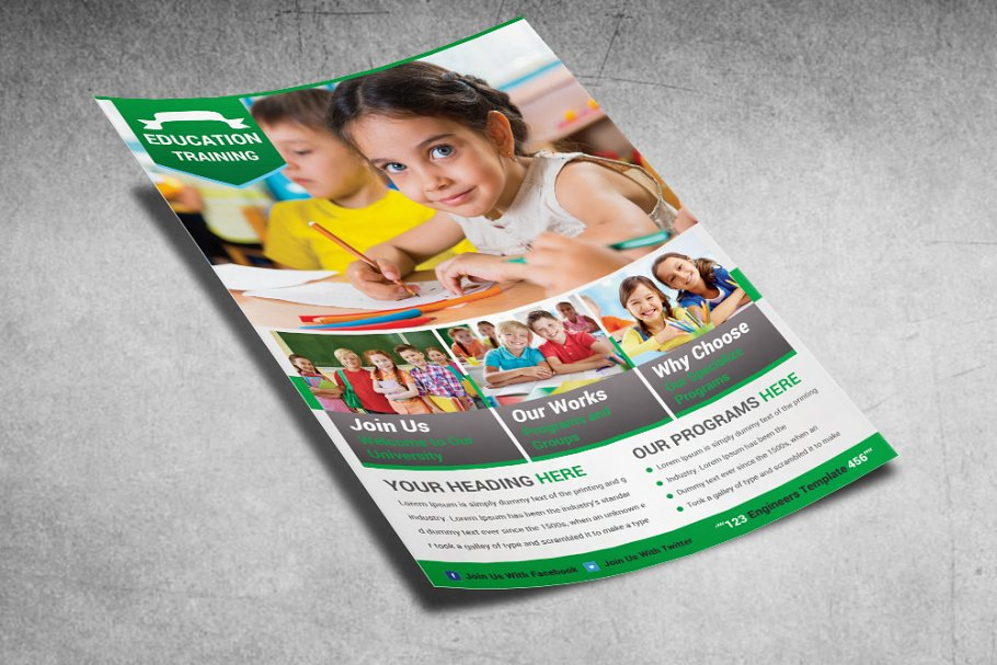 School Education Flyers in Flyer Templates - product preview 2