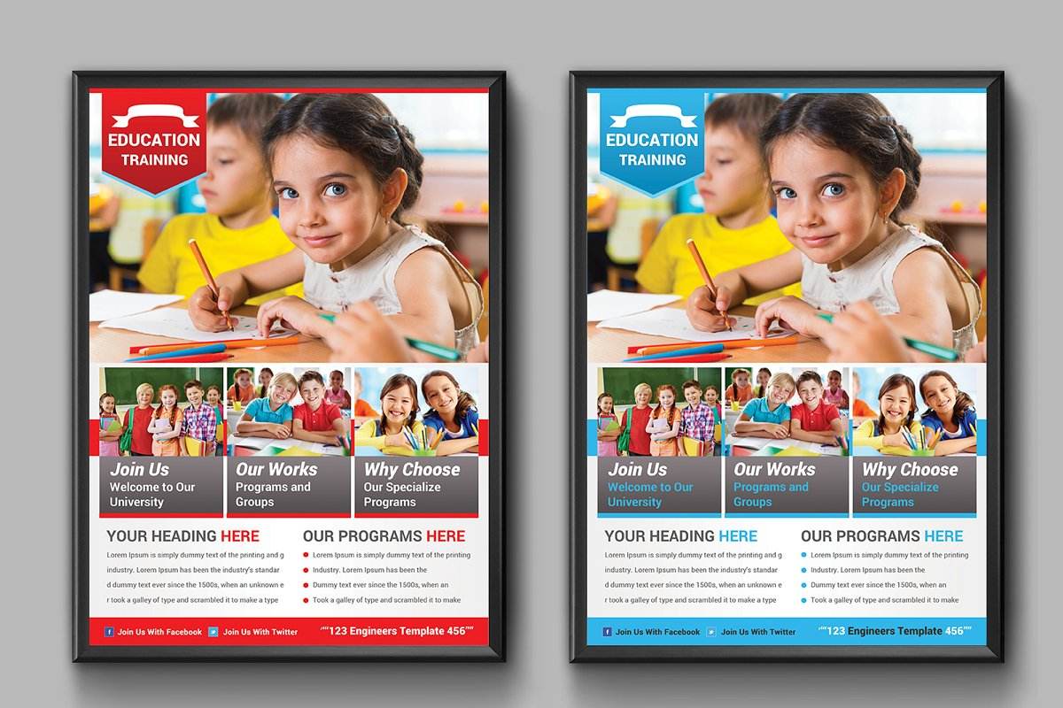 School Education Flyers in Flyer Templates - product preview 3