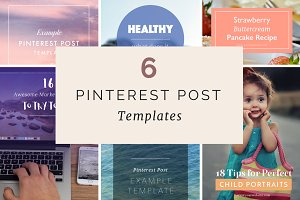 6 Pinterest Post Templates