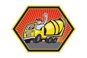 Construction Worker Driver Cement