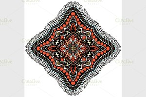 Ornament color card with mandala.