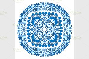 Beautiful blue mandala.