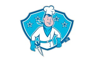 Chef Cook Star Shield