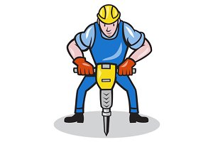 Construction Worker Jackhammer
