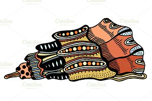 Seashell. Vector illustration