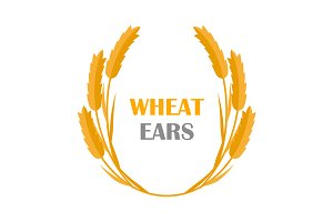 Set of Wheat Ears Logo