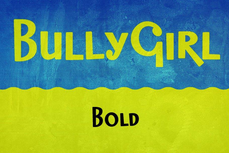 Best BullyGirl Bold Vector
