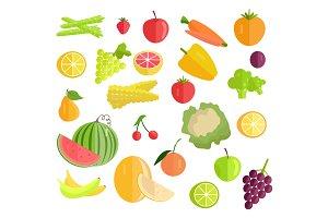 Set of Fruits & Vegetables