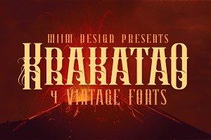 Krakatao - Vintage Font