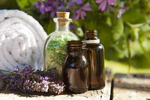 natural massage oil, spa