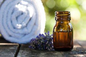 natural massage oil, spa