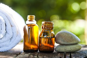 natural cosmetics and massage oil