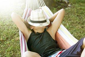 resting in the hammock