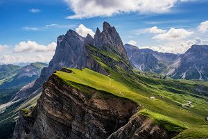 Landscape in Dolomites mountains