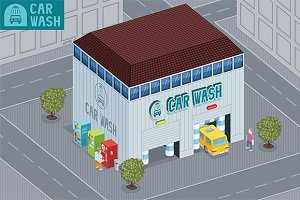 Car wash building