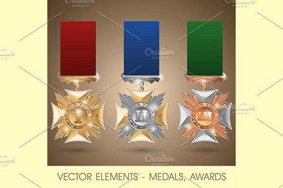 Vector elements - medals, awards