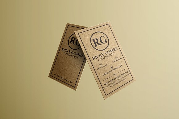kraft paper business cards bundle business card templates creative market - Kraft Paper Business Cards