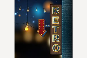 Retro Lights Banner