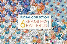 Watercolor rose patterns Vol 1
