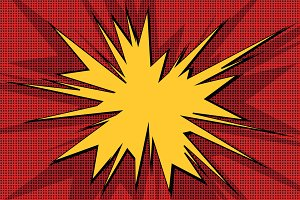 Explosive pop art background
