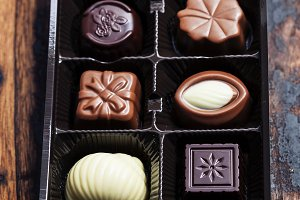 An assortment of fine chocolates