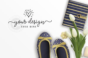 Navy & Gold Style Desktop Photo