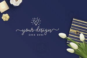 Navy & Gold Header Banner Desktop