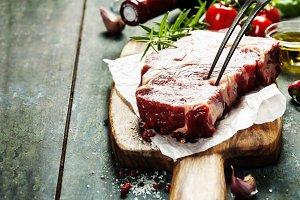 Marbled beef steak