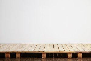 Wooden pallets floor scene