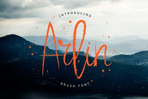 Arlin Brush Font