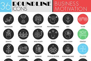 36 Business motivation icons