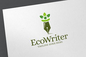 Eco Writer Logo Template