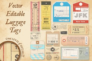 Vector Luggage Tags Illustrations 3